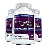 Resveratrol Platinum (3 Bouteilles) -Premium, haute...
