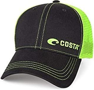 Costa Neon Trucker Offset Logo Graphite Hat & Travel Sunscreen Spray Bundle