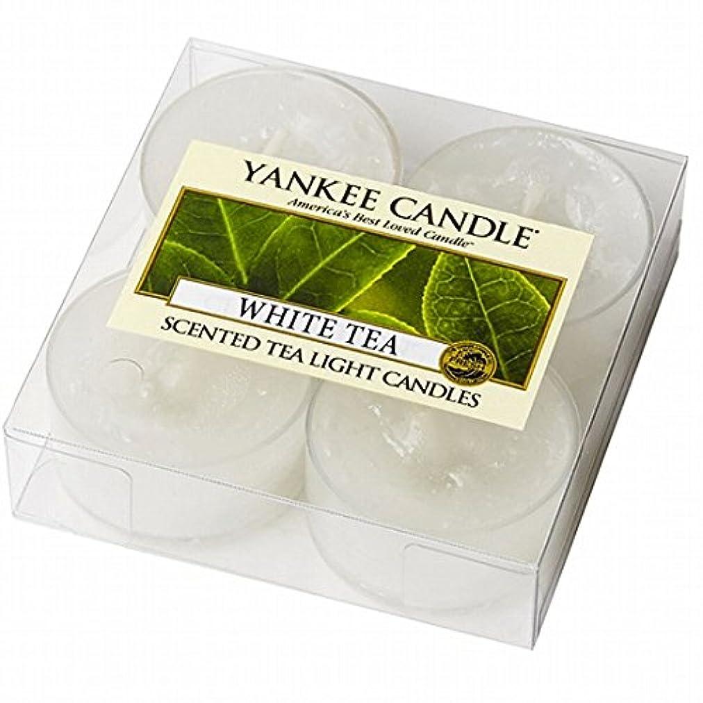 棚メンダシティ接続ヤンキーキャンドル(YANKEE CANDLE) YANKEE CANDLE クリアカップティーライト4個入り 「ホワイトティー」