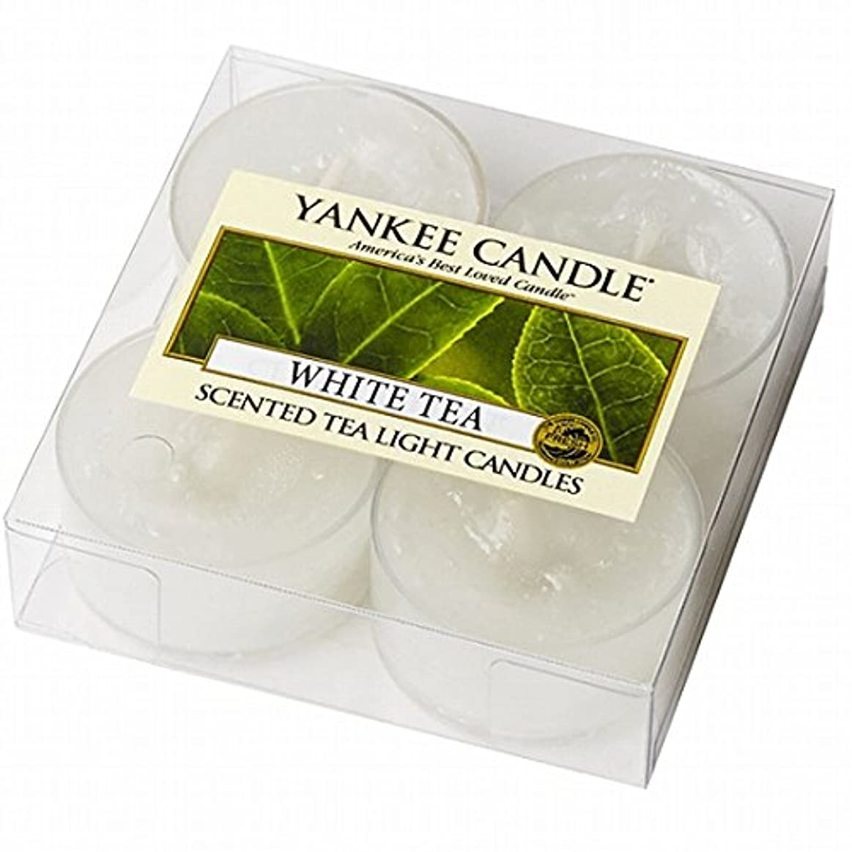 変わる意気込みオプショナルYANKEE CANDLE(ヤンキーキャンドル) YANKEE CANDLE クリアカップティーライト4個入り 「ホワイトティー」(K00205277)