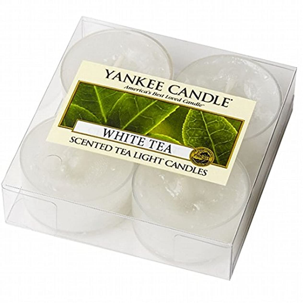 オーブン電極魅力的ヤンキーキャンドル(YANKEE CANDLE) YANKEE CANDLE クリアカップティーライト4個入り 「ホワイトティー」