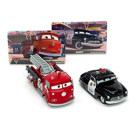 Disney Pixar Cars 2 Rojo & Sheriff Classic - Paquete doble