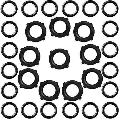 30 Pieces Replacement O-Rings Sealing Ring and Garden Hose Washers for 3/8 inch Quick Connector 3/4 inch Standard Garden Hose