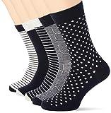 Jack & Jones JACLIGHT Grey Sock 5 Pack Noos Calcetines, Gris claro. Detalles: gris claro...