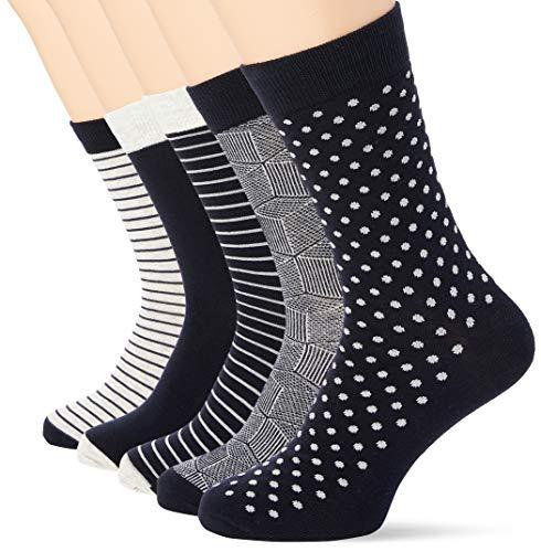 JACK & JONES Herren Jaclight Grey 5 Pack Noos Socken, Light Grey Melange/Detail:Light grey melange - Light Light Light grey, Einheitsgr e EU