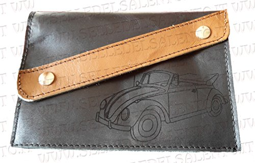Porte-documents Porte Carte Cuir Véritable voiture Beetle Beetle Cabriolet VW KAEFER oblique