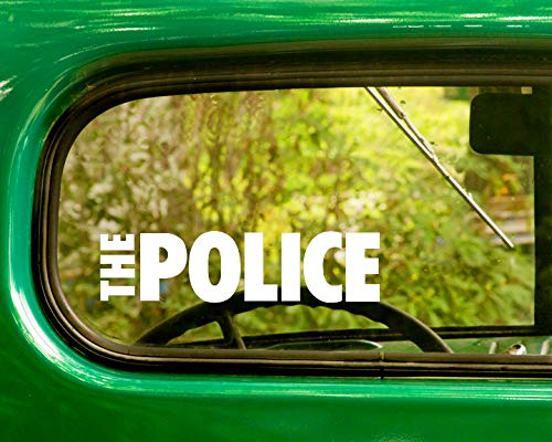 2 The Police Band Decal Stickers White Die Cut for Window Car Jeep 4x4 Truck Laptop Bumper Rv