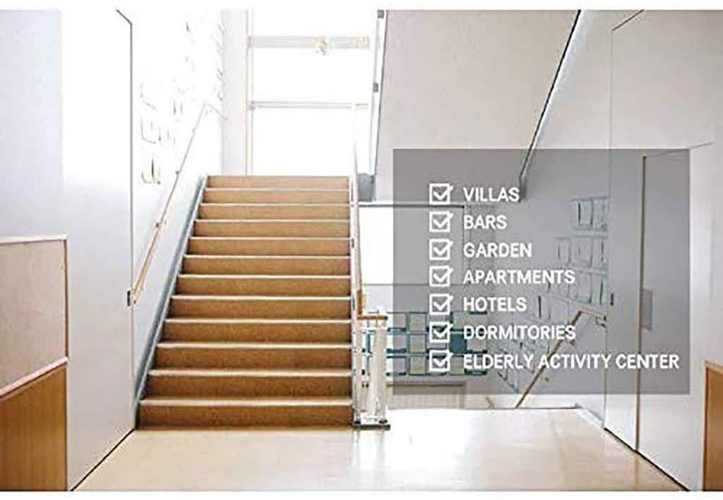 DJSMfs barandilla para escaleras redonda, antideslizante, de madera maciza, empalme contra la pared para interiores y ancianos, barandillas de pasillo, pasillo, kit de barras de apoyo, 80 cm: Amazon.es: Hogar