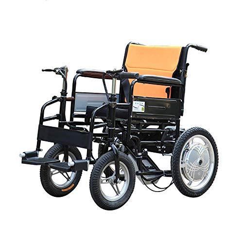 Elektrische rolstoel voor oudere mensen met een handicap, opvouwbaar, draagbaar onderhoud, 4-wielige elektrische scooter met dubbele motor, draagvermogen 100 kg @, Y Lithiumbatterij 10 A.