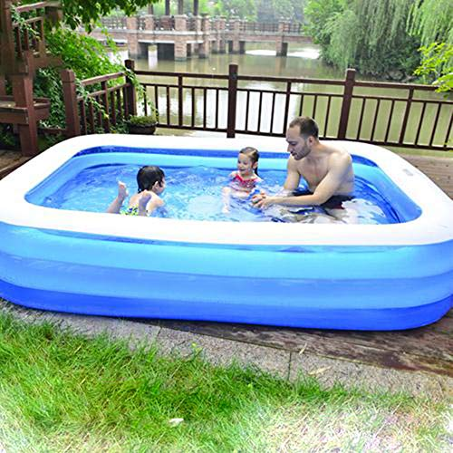 Family Inflatable Swimming Pool, Inflatable Lounge Pool for Baby, Kiddie, Kids, Adult, Outdoor, Garden, Backyard, Summer Water Party