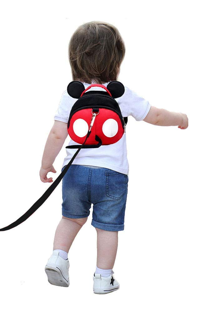 Baby Anti-Lost Harness, Yimidear Purified Cotton Toddler Safety Leash for Babies & Kids Boys and Girls (Red)