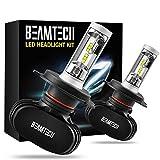 Best Headlight Bulbs - BEAMTECH H4 LED Headlight Bulb, 50W 6500K 8000Lumens Review