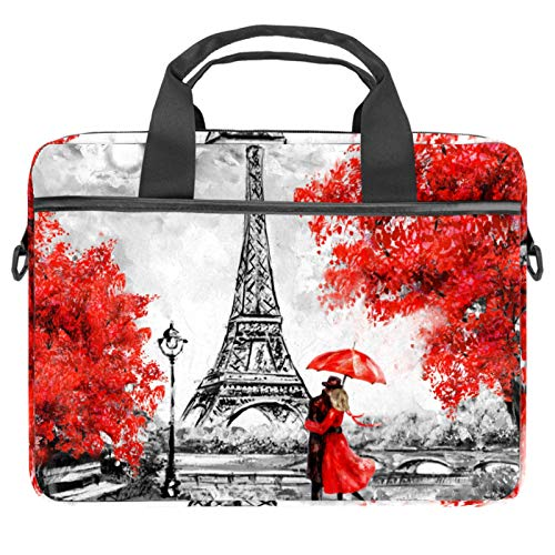 13.4'-14.5' Laptop Case Notebook Cover Business Daily Use or Travel Valentines Lover Retro Paris Eiffel Tower