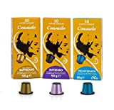 Consuelo Nespresso* Compatible Espresso Capsules - Variety Pack, 50 capsules (5X10) - NEW and improved version of ASIN B07KSPXWNV