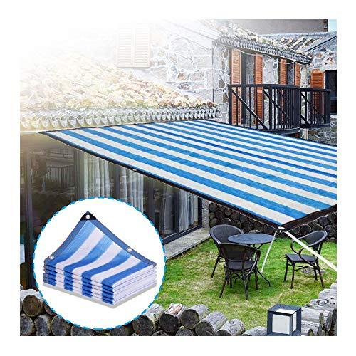 YJSMB Toldo Sombra, Malla Sombra Rayas Tela Red Cortavientos con Ojales UV-Resistente por Invernadero Patio Interior Invernadero (Size : 2x5m/6.5x16.4ft)