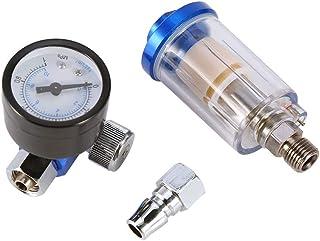 SANON Spray Pneumatic Gun Air Regulator Gauge in-line Oil Water Trap Filter Separator