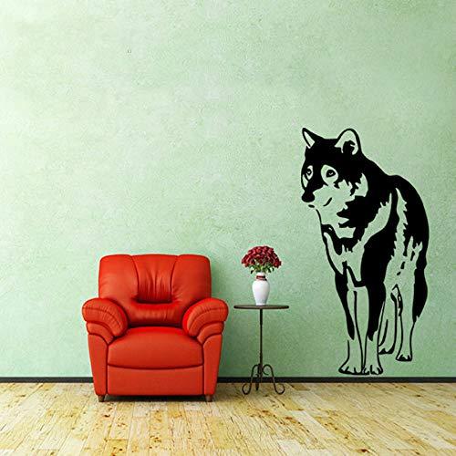 Mooie huisdier mild muursticker vinyl kunst muurschildering poster muurtattoos kinderkamer living decoratie huskie sticker