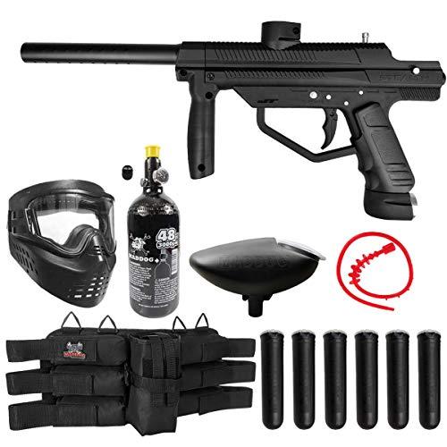 Maddog JT Stealth Semi-Automatic .68 Caliber Titanium HPA Paintball Gun Starter Package - Black