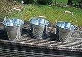 Blecheimer, Pflanztopfset, 3 Stück, Pflanztöpfe, Blumentopf, 14 cm