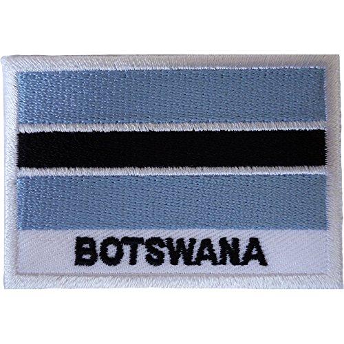 Aufnäher mit Botswana-Flagge, zum Aufbügeln oder Aufnähen, für Kleidung, Tasche, Südafrika, bestickt