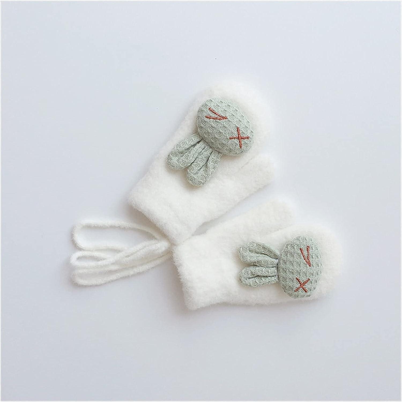 JSJJAWS Winter Gloves Winter Warm Baby Gloves Cartoon Animal Kids Gloves for Baby Girl Boy Soft Nylon Children Mittens (Color : White)