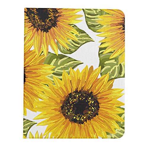 ZHANGhome Case For Ipad Pro 11 Inch 2nd & 1st Generation 2020/2018 IpadPro11inchCase Beautiful Seamless Sunflowers On White Ipadpro11Case Support Ipad 2nd Gen Pencil Charging