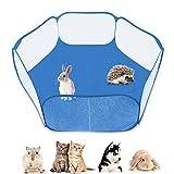 YUIP Valla para Animales pequeños, Valla portátil para Mascotas, Valla móvil para hámster, Valla de eyección de Conejillo de Indias, Valla plegada de Conejo y Valla de Totoro
