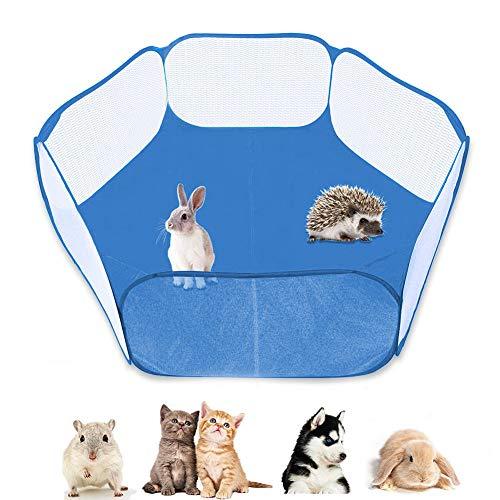 YUIP Kleintierkäfig-Zelt,Kleintier-Zelt, leicht und tragbar,atmungsaktiv, tragbar,transparent, Hofzaun für den Innen- und Außenbereich,für Meerschweinchen, Kaninchen, Hamster, Chinchillas und Igel
