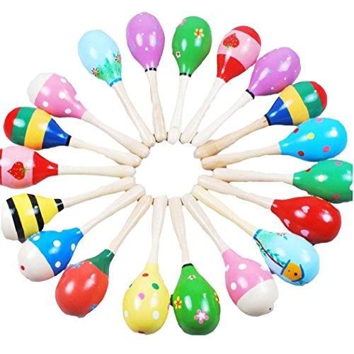 Koly Mini Bola de Madera Juguetes para niños instrumentos musicales de percusión martillo de la arena