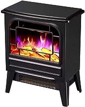 Calentador de estufa Calentador de chimenea eléctrico de invierno, Estufa de chimenea independiente con efecto de llama realista - para oficina y hogar Ventilador de llama 3D y silencioso -1000W / 20