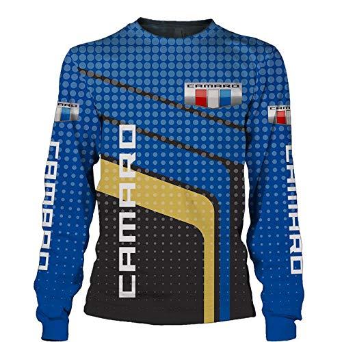 QAL Herren Hoodies Jacke für Chevrolet Camaro 3D-Druck Hoodie Pullover Sweatshirt Fan Jersey Sportswear Top D- 2XL