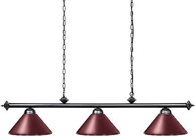 Amazon Com Wellmet 3 Light Pool Table Light Vintage Retro Kitchen Island Pendant Light With Matte Black Shade Modern Industrial Chandelier Home Improvement