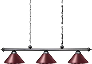 Wellmet Pool Table Lights for 8'/9' Table with 3 Metal Shades, Billiard Lamp..