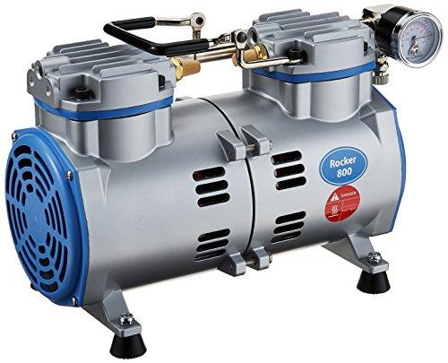 Vakuumpumpe / Laborpumpe Rocker 800: 90mbar (-670mmHg) 84 l/min, schmiermittel- und ölfrei, für (Vakuum-) Filtration, Luftproben oder Schwebestofftests