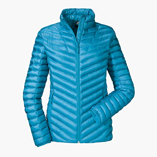 Schöffel Annapolis1 - Chaqueta térmica acolchada con cuello alto para mujer, Mujer, Chaqueta térmica acolchada con cuello alto, chaqueta de esquí cálida y transpirable., 12662, Cloisonne, 38