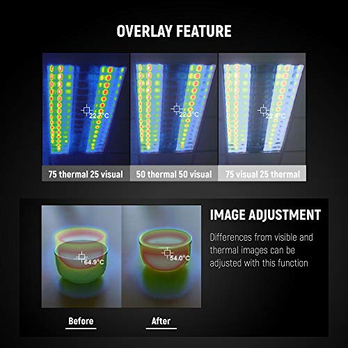 『PerfectPrime IR0018, 35200 画素の赤外線熱画像 可視光カメラ 熱画像キャプチャー頻度 9HZ』の4枚目の画像