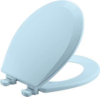 BEMIS 500EC 464 Toilet Seat with Easy Clean & Change Hinges, ROUND, Durable Enameled Wood, Dresden Blue