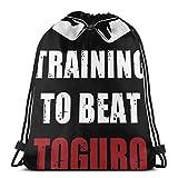 Alternate Training to Beat Toguro Sport Bag Gym Sacpack Mochila con cordón