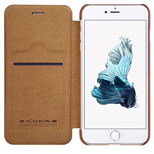 Nillkin IP7Plus -Qin-Brown - Funda de Piel para iPhone 7 Plus, Color marrón