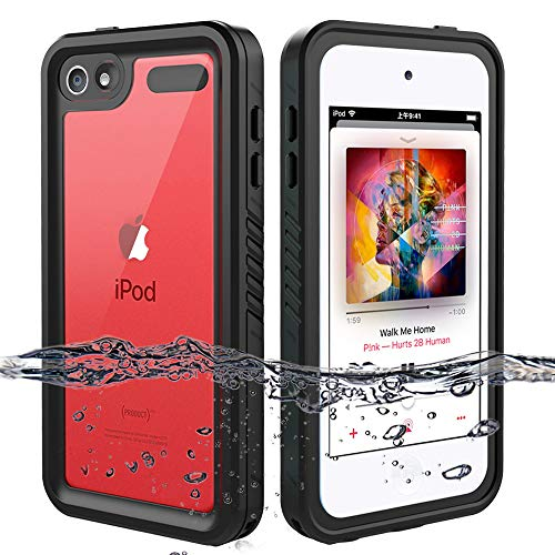 iPod Touch 7 Case, iPod Touch 6 Case, iPod Touch 5 Case, OWKEY Full Body Waterproof Case Rugged Protection, Shock Dirt Snow Proof Protective Cover for iPod Touch 7th/6th/5th Generation