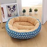 MMD-doggie kennel Confortable 50 * 50 * 14 cm, Accessoires for Animaux domestiques Litière for Chat chenil Beige/Bleu + Canard Petit Chien Moyen Pad for Chien Doux