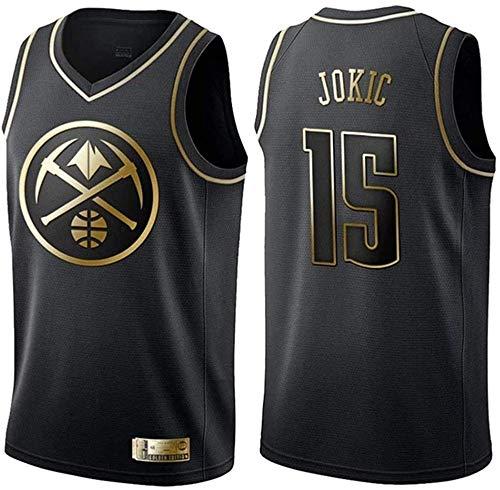 WHYYT Maglie da Pallacanestro da Uomo, NBA Denver Nuggets # 15 Nikola Jokic Jersey, Classico Abbigliamento Senza Maniche Traspiranti Ricamato,XL(180~185CM/85~95KG)