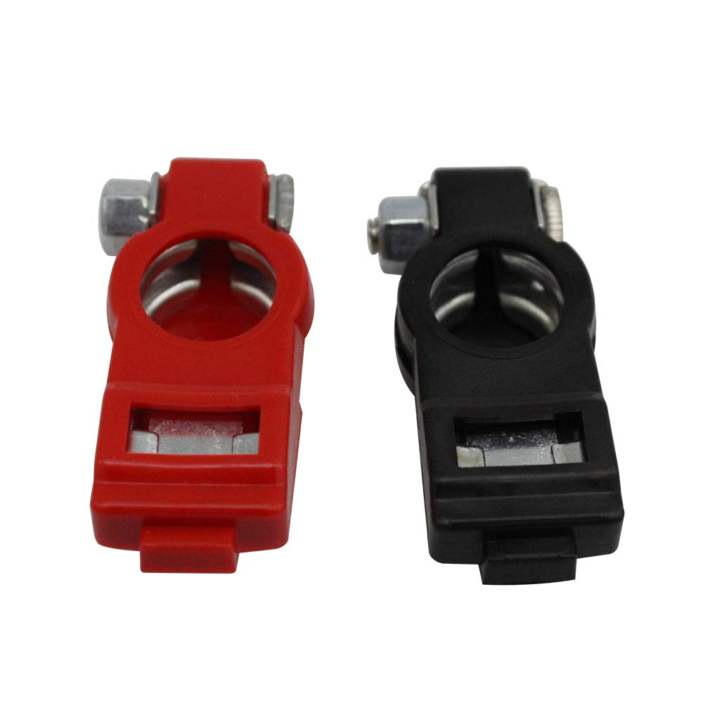 Positive Pair Red Black Insulated Car Battery Alligator Clip Clamp Negative