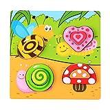 Toyvian Madera Peg Puzzles Océano Animal Rompecabezas Juguetes Estilo de jardín Educación Aprendizaje Inteligencia Juguetes para niños pequeños Bebé niños