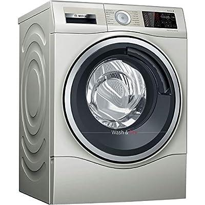 Bosch WDU28569GB Serie 6 Freestanding Washer Dryer with AutoDry & SpeedPerfect, 10kg/6kg load, 1400rpm spin - Silver