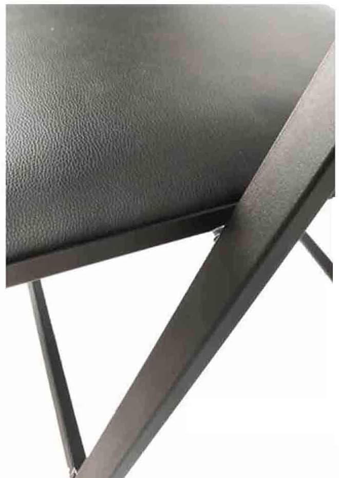 YCSD Chaise Pliante Économie Chaise De Salle À Manger Portable Accueil Siège D'ordinateur De Bureau,Acier Et PU Rembourré en Cuir,Pack-2 (Color : Blue-Black) Gray-white