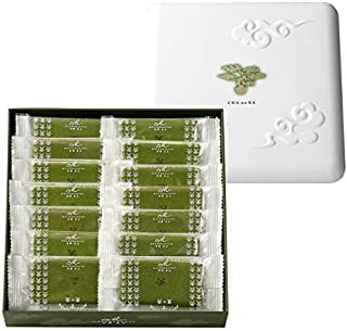 京都マールブランシュ公式「茶の菓」 お濃茶ラングドシャ 14枚入   洋菓子 抹茶 スイーツ お取り寄せ 御中元