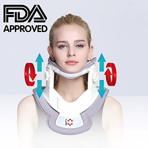 ALPHAY Neck Stretcher, Cervical Collar Traction Device, Neck Support Brace, Inflatable Cervical Pillow with Collar Adjustable for Home Use - Amazon Vine