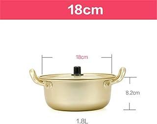 DGDHSIKG Olla de sopa Ramen olla dorada sopa de aluminio olla caliente superficie de recubrimiento oxidada utensilios de cocina, 18 cm