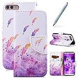 Robinsoni Custodia Compatibile con Huawei Enjoy 7S Cover Flip Custodia Huawei Enjoy 7S Por...